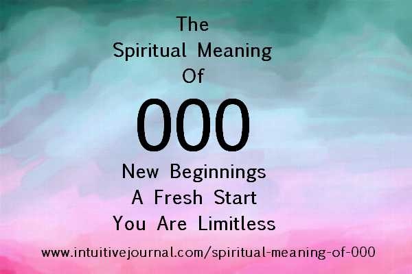 spiritual meaning of 000