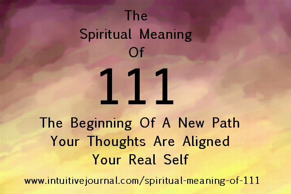 spiritual meaning of 111